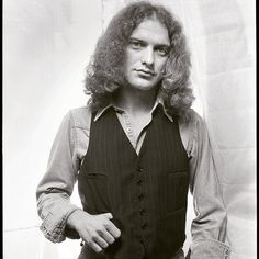 """Photo by Len Delessio - Here's another from """"Then"""". Lou Gramm in my studio 1976."""