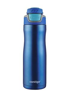 6a668f087a Contigo AUTOSEAL Fit Trainer Stainless Steel Water Bottle, 20 oz, Dazzling  Blue Review Stainless