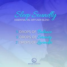 Here is another GREAT diffuser blend that merges the BALANCE Blend with Lavender