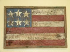 Rustic Barn Wood American Flag by HammeredandHewn on Etsy, $45.00