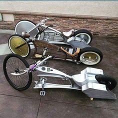 Bike Wagon, Cruiser Bicycle, Motorized Bicycle, Custom Cycles, Custom Bikes, Cool Bicycles, Cool Bikes, Virago 535, Monocycle