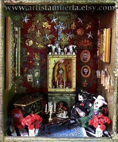 Muertas Dollhouse by ArtistaMuerta on Etsy, $1299.00