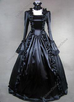 Victorian Gothic Formal Period Dress Ball Gown Steampunk Theatre Wear