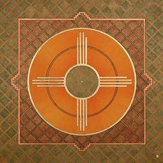 Zia Sun Symbol Spiritual Symbols, Sun Art, First Humans, Bike Art, Environmental Art, Sacred Geometry, Artsy Fartsy, Art Lessons, Art Projects