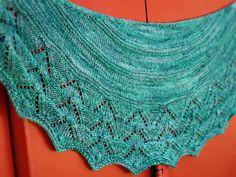 Twist Again shawl: Knitty.com - Deep Fall 2014 - would be perfect for handspun