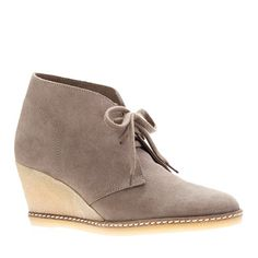 MacAlistor wedged suede boots! I am in <3