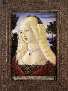 Нероччо де Ланди. Portrait of a Lady. 1480s Tempera on panel, 47 x 31 cm National Gallery of Art, Washington.