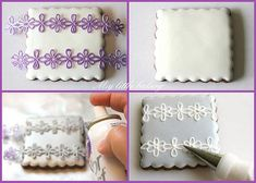 Spray over a stencil on your cookie to help pipe the design.