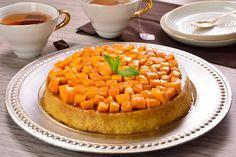 Prepara este rico postre que es una combinación de mango, huevos con leche y caramelo, con una inigualable textura suave y delicada, coronado con el sabor de unos dulces mangos caramelizados.