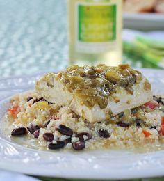Salsa Verde Fish ~ an easy recipe to prepare on the grill