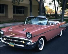 1957 pink pearl chevrolet | 1957 CHEVROLET BEL AIR. gorgeous dusty rose... SealingsAndExpungements ...