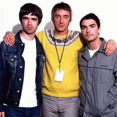 Noel Gallagher (..the oasis, noel gallagher's high flying birds), Paul Weller (..the jam, the style councils, incognito) and Kelly Jones (the stereophonics).
