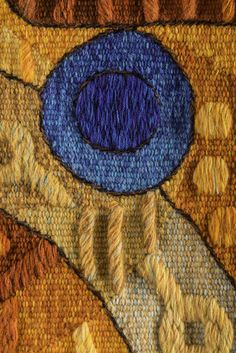 """Handwoven Peruvian Tapestry by Maximo Laura """"Voice of the Water Goddess XII"""". Tapestry Detail /// Price: US$ 2,600 including Worldwide Shipping."""