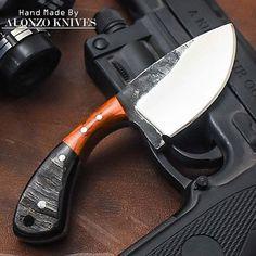 ALONZO KNIVES USA CUSTOM HANDMADE TACTICAL HUNTING 1095 KNIFE RAM HORN 1933 #AlonzoKnives