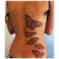 Butterfly Tattoos On Back For Girls | Sexy Butterfly Back Tattoo |... ❤ liked on Polyvore featuring tattoos, tatoos, tattoos and piercings, tattos and accessories