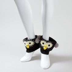 Penguin Boot Cuffs. Silly... Reminds me of @ashley DeLoach