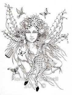 Fairy Tangles: Fairy of the Forest
