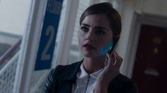 Clara Oswin Oswald - ''Did you just call yourself Doctor Disco?'' - screencap -- Doctor Who.S09E07 - ''The Zygon Invasion'' (BBC One - Photo Galleries: Doctor Who - Looking back at ''The Zygon Invasion'') (Doctor Who - BBC Series) source: http://www.bbc.co.uk/programmes/p036jpy0/p036jpgb