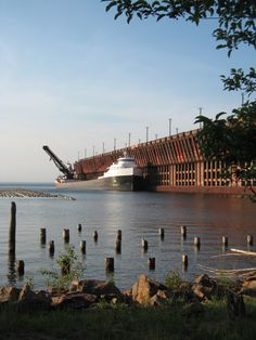 Ship in Marquette, MI.  Posted for my husband and daughters....they are all way to obsessed with boats!