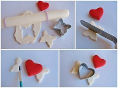 New cupcakes fondant toppers valentines day ideas Fondant Cupcakes, Cupcakes San Valentin Fondant, Fondant Toppers, Pink Cupcakes, Cupcake Cakes, Cupcake Tutorial, Fondant Tutorial, Valentine Day Cupcakes, Love Valentines
