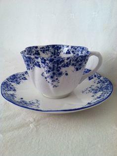 Shelley Dainty Blue Fine Bone China Tea Cup and by MariasFarmhouse, $55.00