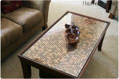 Haute To Sew Penny Covered Coffee Table