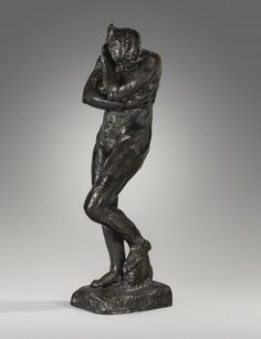 Auguste Rodin 1840 – 1917 EVE, GRAND MODÈLE - VERSION SANS ROCHER À LA BASE CARRÉE inscribed A. Rodin; inscribed with the foundry mark Alexis Rudier fondeur Paris and with the raised signature A. Rodin bronze height: 173 cm. Conceived in 1881, and cast in bronze between 1925 and 1940.