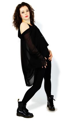 Black Catsuit with an off the shoulder shirt from DCUK You can buy this catsuit and gorgeous shirt from £39.99  http://www.danceclothesuk.com/catsuits/11-plain-matt-black-lycra-tank-catsuit.html#