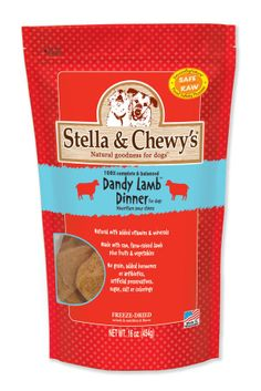 Stella & Chewy's is a line of Freeze-Dried Dinners for Dogs & Cats.  The benefits and features of this food are: It's 100% Complete & Balanced, 90-95% Meat, Organs & Ground Bone, No Added Hormones & Antibiotic-Free, No Grains & Gluten-Free. Available at your neighbourhood Global Pet Foods store.