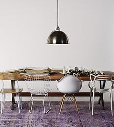 i would love to have a fabulous collection of designer and vintage chairs for my massive dining table