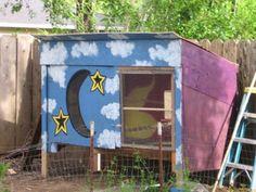 Artistic chicken coop