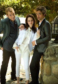 Kellan Lutz, Kristen Stewart & Robert Pattinson, Instyle magazine, 2008