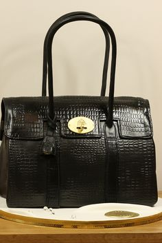 Mulberry Handbag Cake Black Printed Leather by Kingfisher Cakes, via Flickr