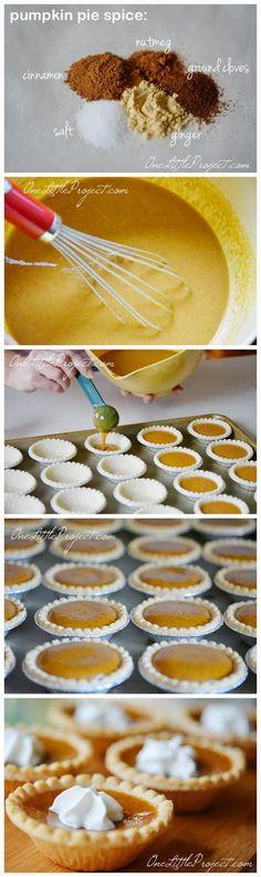 Mini Pumpkin Pies ~ toprecipeblog