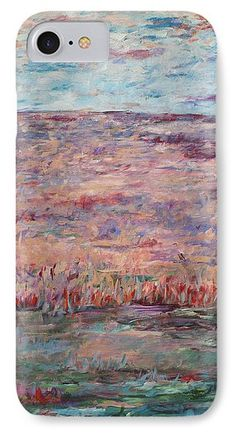 Landscape IPhone 7 Case featuring the painting Oasis by Jennifer Golubiewski