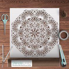 Round Mandala Style Stencil