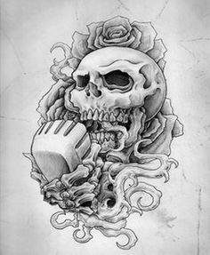 Skull and microphone tattoo Skull Tattoo Design, Skull Tattoos, Tattoo Designs, Tattoo Ideas, Badass Drawings, Tattoo Drawings, Tattoos For Guys, Cool Tattoos, Amazing Tattoos