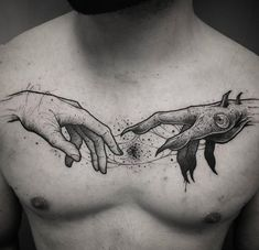 Demonic Impact Hands Tattoo on Chest chest tattoo demonic hand and human hand Black Tattoo Art, Dark Tattoo, Tattoo On, Black Tattoos, Tattoo For Man, Maori Tattoos, Body Art Tattoos, Girl Tattoos, Sleeve Tattoos