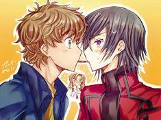 Code Geass, Pocky Game, All Codes, Mecha Anime, Couple Cartoon, Bishounen, Couple Art, Anime Shows, Anime Characters