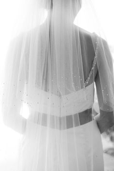 Glitter Inspired Wedding Ideas - Sparkly Wedding Veil; Wedding by All You Need is Love Events