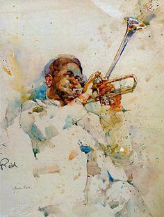 Watercolor Figurative Paintings by Charles Reid | Cuded #watercolor jd