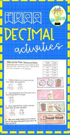 Fifth Grade Math, Sixth Grade, Fourth Grade, Classroom Hacks, 5th Grade Classroom, Teaching Decimals, Teaching Resources, Classroom Resources, Reading Words