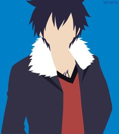 Gray Fullbuster Minimalist by CakeFlakes
