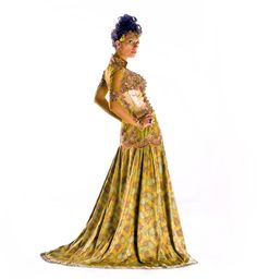 The Falling Leaves Royal Gown. Inspired by Dutch/Indonesian Royal wedding gown. Blac Mera