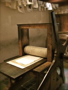 Reproduction of Rembrandt's etching press – Rembrandt House Museum, Amsterdam