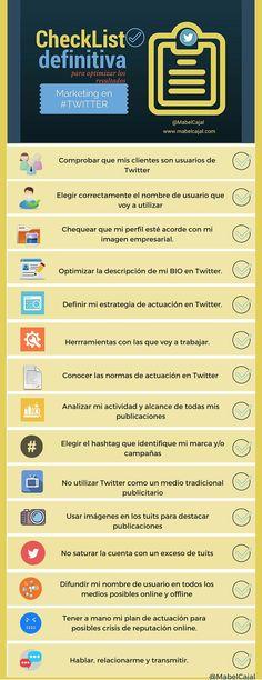 Checklist definitiva para optimizar tu marketing en twitter vía @mabelcajal