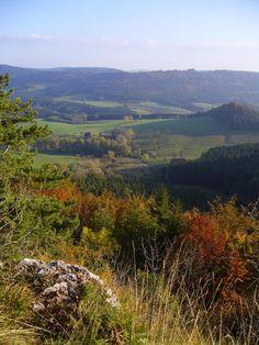 Schwäbische Alb (Germany) - about 30 miles ariund my home! -- https://en.wikipedia.org/wiki/Swabian_Jura