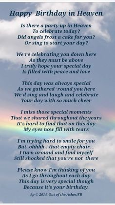 Happy Birthday Mike! Sending birthday wishes to u in heaven! U are missed so much!