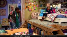 Teddy's bed/loft on Good Luck Charlie- this is a perfect example of something my daughter would want in her room!!
