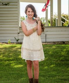 Look at this Natural Elyse Ibiza Dress - Girls on #zulily today!